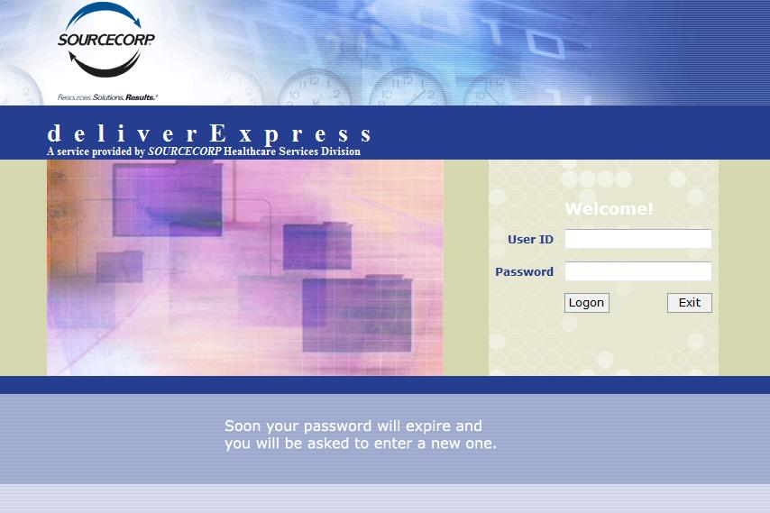 Login page (click for full-scale image)